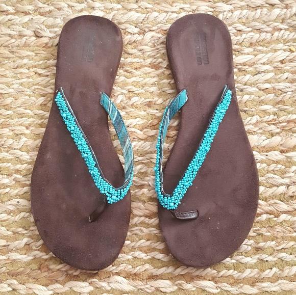 6fa141aaea2 Mossimo Beaded Sandals. M 5b4275ac95199627ced61677